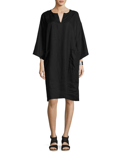 Eileen Fisher Organic Handkerchief Linen Shift Dress