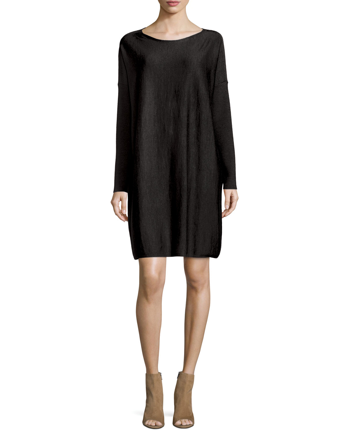 Merino Wool Long-Sleeve Dress