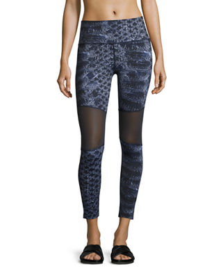 Sycamore Mesh-Panel Compression Running Tights