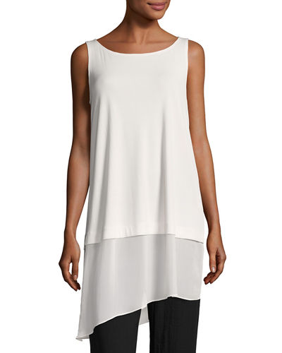 Eileen Fisher Stretch Silk Jersey Tunic, Petite
