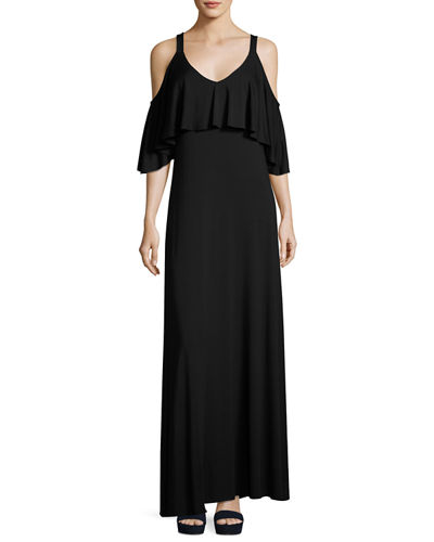 Jamee Open-Shoulder Maxi Dress, Plus Size
