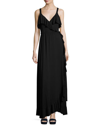 Rachel Pally Ruffle Drama Maxi Dress