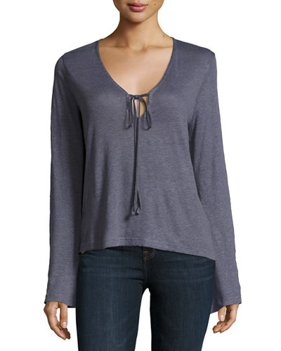 J Brand Constance Long-Sleeve Cotton Top