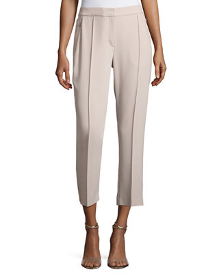 Lisa Fluid Crepe Cropped Pants