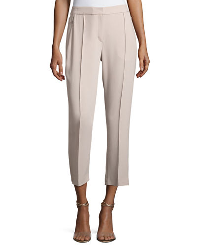 Elie Tahari Lisa Fluid Crepe Cropped Pants and