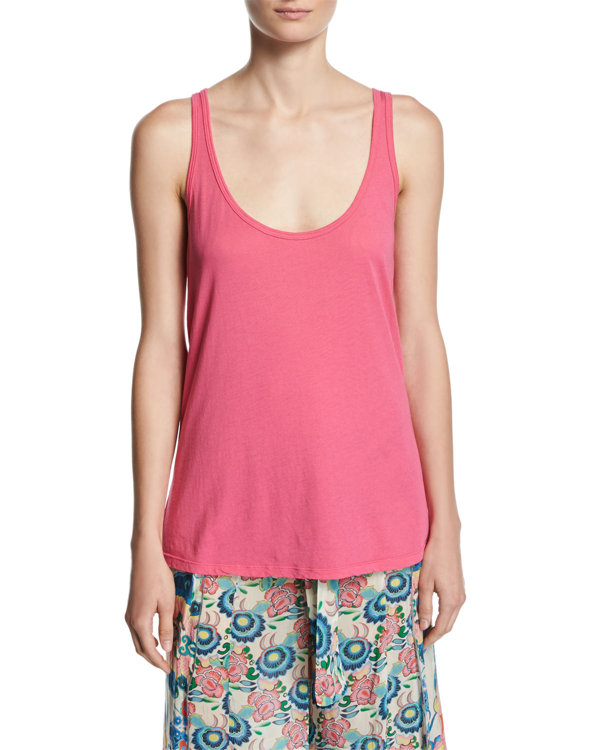Cotton Modal Scoop-Neck Tank
