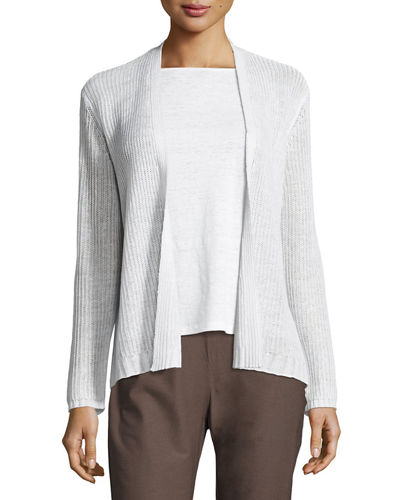 Eileen Fisher Organic Linen Knit Cardigan and Matching