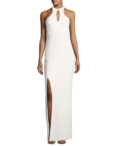 Likely Elston High-Neck Sleeveless Gown