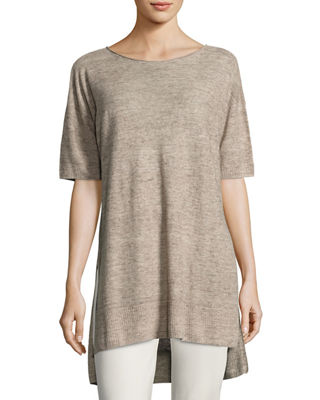 Eileen Fisher Lightweight Linen Melange Tunic