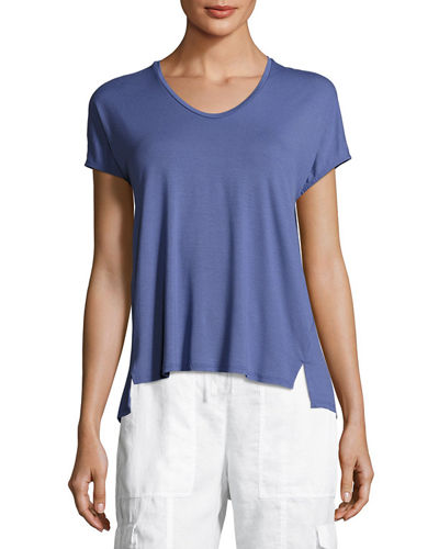 Eileen Fisher Lightweight Jersey Cocoon Box Top