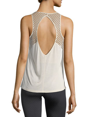 Image 2 of 4: Cage Open-Back Performance Tank Top