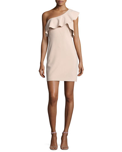 Elizabeth and James Jerard One-Shoulder Ruffle Ponte Dress