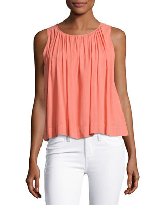 Isla Sleeveless Pleated Top