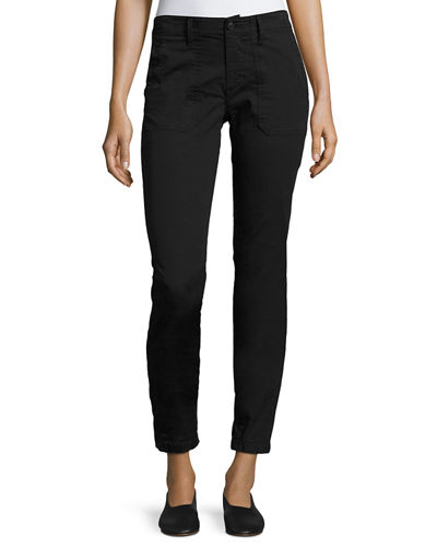 Vince Elastic-Hem Patch-Front Utility Pants and Matching Items