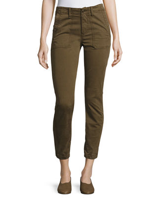 Vince Elastic Hem Patch Front Utility Pants and