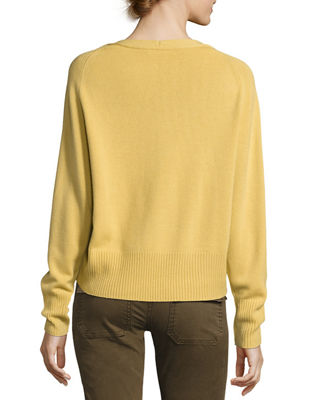 Image 2 of 3: Boat-Neck Pullover Cashmere Sweater