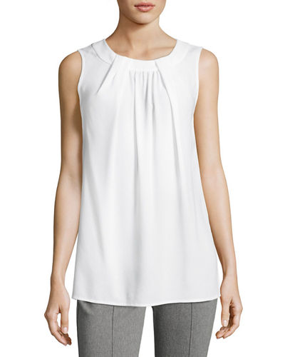St. John Collection Lightweight Satin Back Crepe and