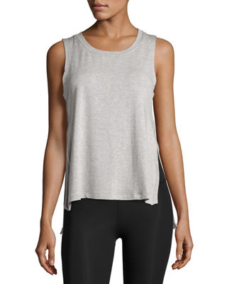 Varsity High-Low Tank Top