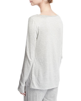 Image 2 of 2: Scoop-Neck Sleek Viscose Jersey Top