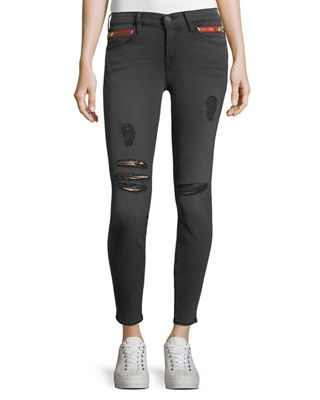 Image 1 of 3: Kendall High-Waist Cropped Skinny Jeans