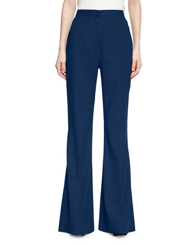 Diane von Furstenberg High-Rise Pleated-Front Flared Pants and