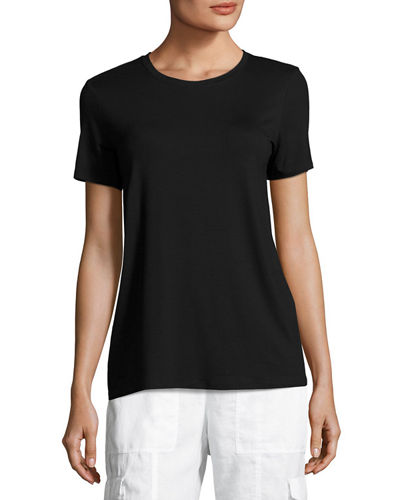 Eileen Fisher Short-Sleeve Lightweight Jersey Top