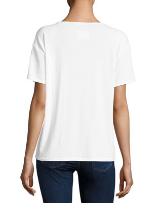 Image 2 of 2: Theo Short-Sleeve V-Neck Tee