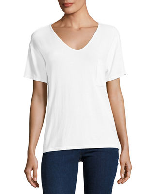 Image 1 of 2: Theo Short-Sleeve V-Neck Tee