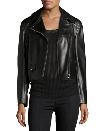 Helmut Lang Classic Leather Moto Biker Jacket