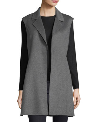 Luxury Notched Double-Face Cashmere Vest