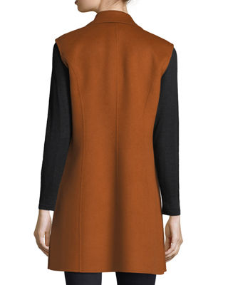 Image 2 of 2: Luxury Notched Double-Face Cashmere Vest