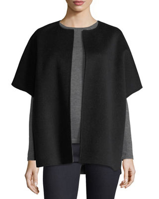 Luxury Double-Faced Cashmere Cocoon Coat