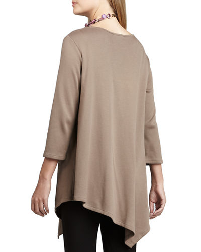 3/4-Sleeve Asymmetric Tunic