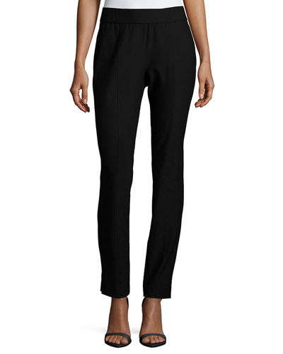 Washable Crepe Slim-Leg Pants