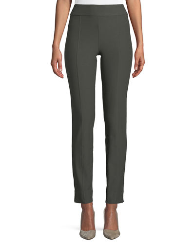 Eileen Fisher Washable Crepe Slim-Leg Pants, Petite and