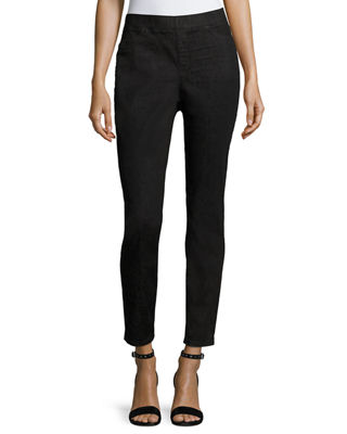 Eileen Fisher Organic Cotton Soft Stretch-Denim Leggings, Petite