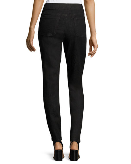 Image 3 of 5: Eileen Fisher Plus Size Organic Cotton Soft Stretch-Denim Leggings