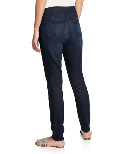 Organic Cotton Soft Stretch-Denim Leggings, Plus Size