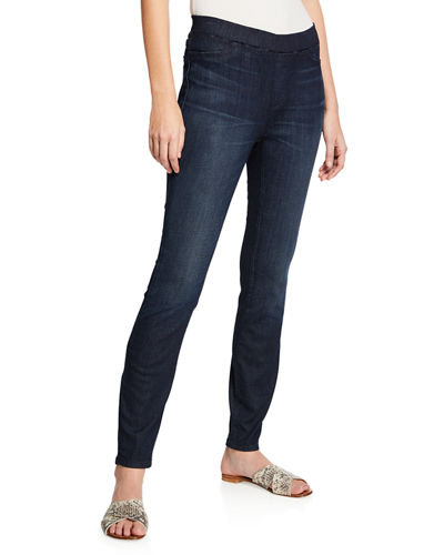 Eileen Fisher Organic Cotton Soft Stretch-Denim Leggings, Plus