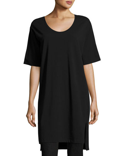 Eileen Fisher Scoop-Neck Jersey Tunic, Petite