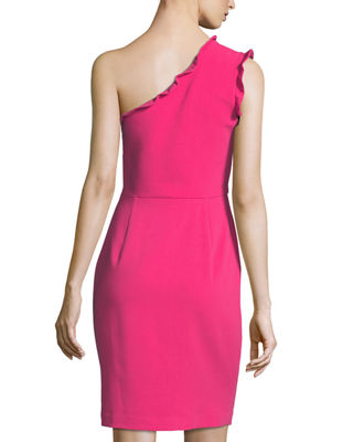 Image 2 of 4: Pravella One-Shoulder Ponte Cocktail Dress