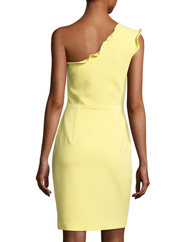 Pravella One-Shoulder Ponte Cocktail Dress