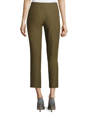 Image 2 of 4: Washable Crepe Slim-Leg Ankle Pants, Plus Size