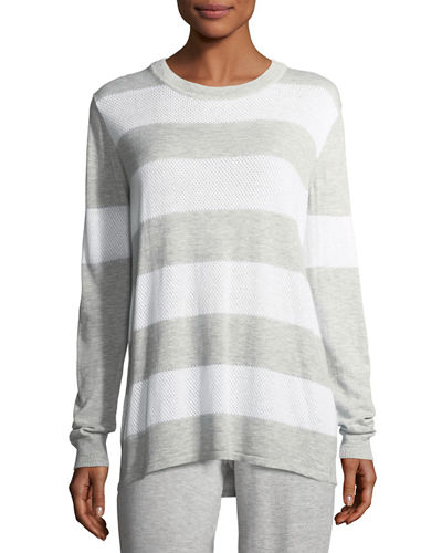 Long-Sleeve Striped Pullover Top