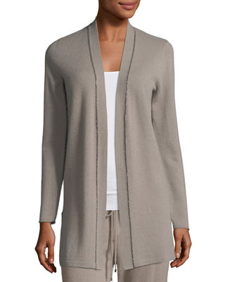 Chain-Trim Cashmere Duster