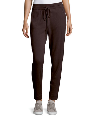 Chain-Trim Cashmere Jogger Pants