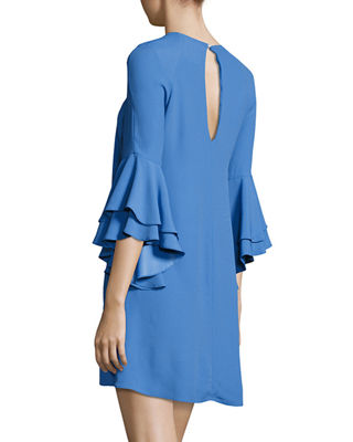 Image 2 of 3: Melany Ruffle Sleeve Mini Dress