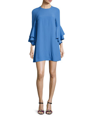 Image 1 of 3: Melany Ruffle Sleeve Mini Dress