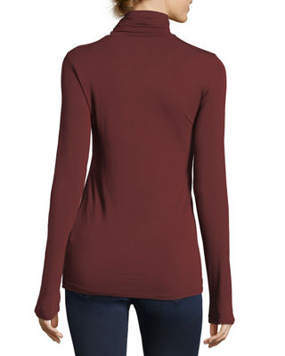Image 2 of 2: Soft Touch Turtleneck Top