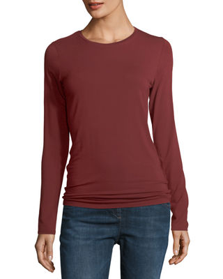 Soft Touch Long-Sleeve Crewneck T-Shirt